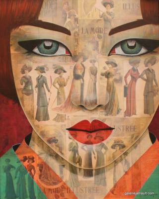 Pauline_Gagnon_Galerie_Jamault_tableaux_Mode-illustré-81x65cm