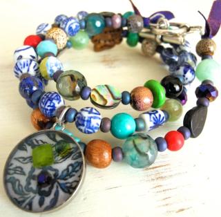 Collier :bracelet Chinoiserie
