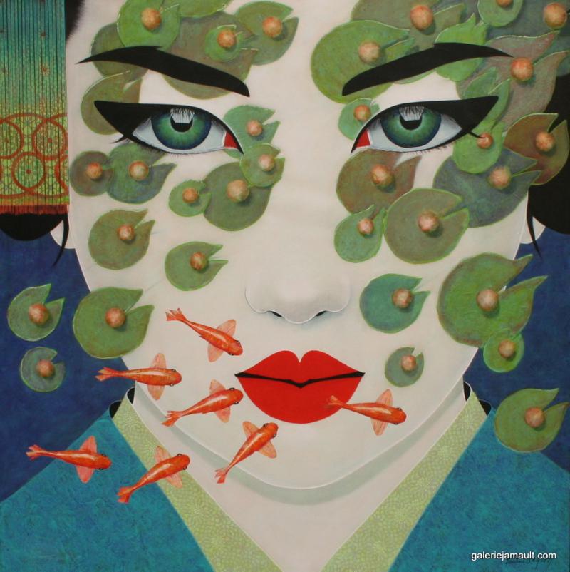 Pauline_Gagnon_Galerie_Jamault_tableaux_RUIKA-100x100cm